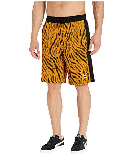 - PUMA Men's Wild Pack All Over Print Shorts, Golden Orange/Zebra AOP, S