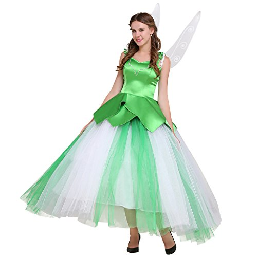 [CosplayDiy Women's Fairy Princess Costume Dress with Wing Green XXXL] (Tinkerbell Costumes Plus Size)