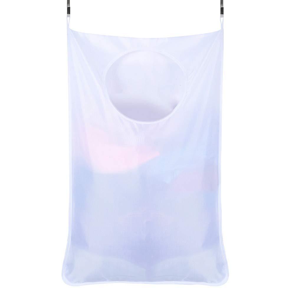 Garish  Storage Bag Square Mouth Large Capacity Pocket, Can Reusable Eco Bag,Multifunction Home Storage Bag White
