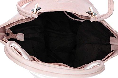 mujer Bolsa CARDIN hombro abertura rosa PIERRE VN1377 zip ZqwH4