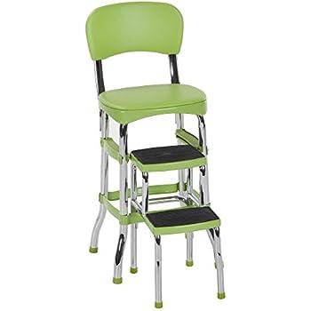 Surprising Amazon Com Cosco 11 120Cby1 Retro Chair Step Stool Yellow Spiritservingveterans Wood Chair Design Ideas Spiritservingveteransorg