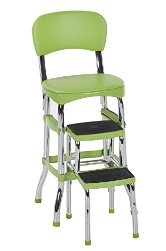 Cosco Green Retro Counter Chair/Step Stool by Cosco