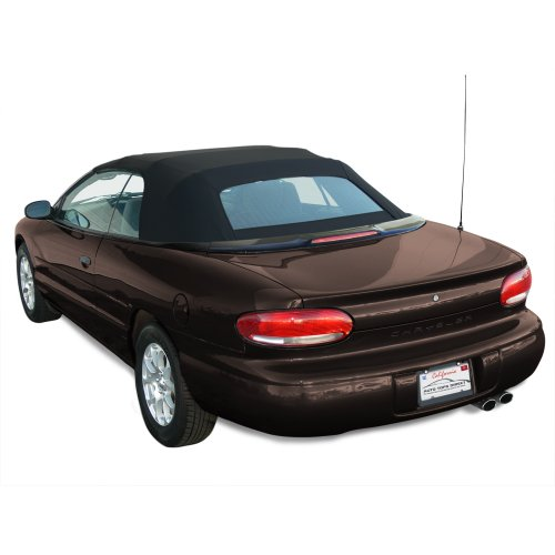Chrysler Sebring Convertible Top for 96-00 Models in Sailcloth Vinyl with Glass Window, (Glass Convertible Top Rear Window)