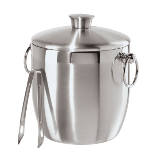 Holiday Ice Bucket - Oggi Stainless Steel Ice Bucket with Tongs, 3 L