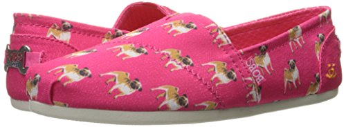 Pink Hot bobs en Resbalón Skechers para los partir bobs de felpa perros de A Flat Pug la wUp6w