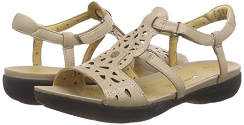 Buy Clarks Women's Un Valencia Sand Brown Leather Fashion