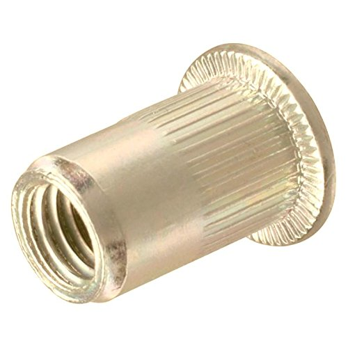 SNUG Fasteners (SNG206) Forty (40) 3/8-16 UNC Rivet Nuts - Zinc Plated Carbon Steel Flat Head Threaded Inserts