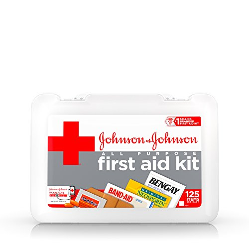 Johnson & Johnson Red Cross All Purpose First Aid Kit, 140 Pieces