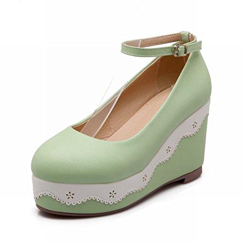 Piattaforma Delle Donne Adorabile Della Caviglia Della Piattaforma Di Latasa Adorabile Calza Le Scarpe Verdi
