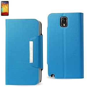 Bloutina Reiko Magnet Flip Smooth Leather Case for Samsung Galaxy Note 3 - Retail Packaging - Navy