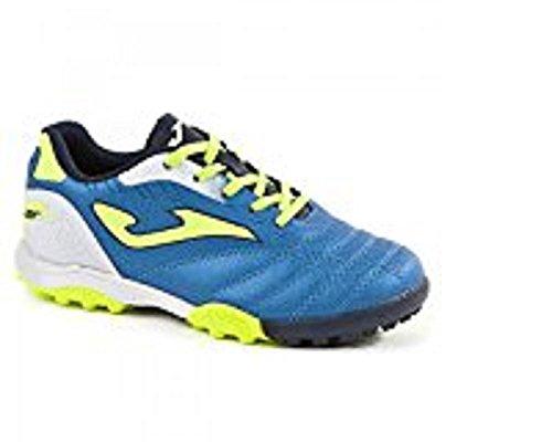 Joma - Zapatillas de fútbol sala de piel sintética para niño Azzurro Royal