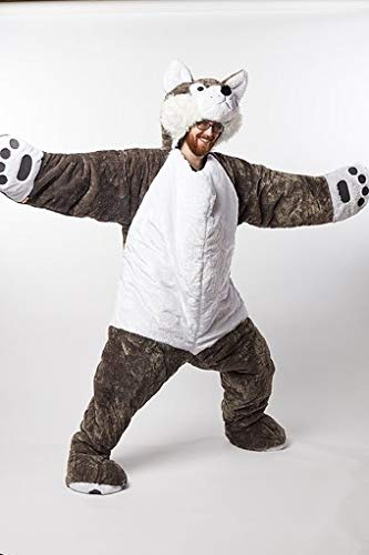 Snoozzoo Adult Wolf Sleeping Bag for Adults up to 75 inches Tall. ()