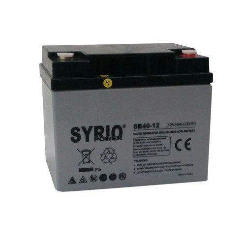 AGM Battery 40AH 12V Syrio Power Off-Grid Solar System Electric Vehicles Marine