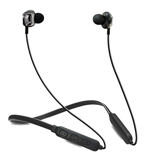WeCool Soulmate A6 in-Ear Neckband Wireless Bluetooth Earphones with mic Having Bluetooth 5.0 and IPX-5 Sweatproof and 7 Hours Battery for Music and Handsfree Calling (Black)