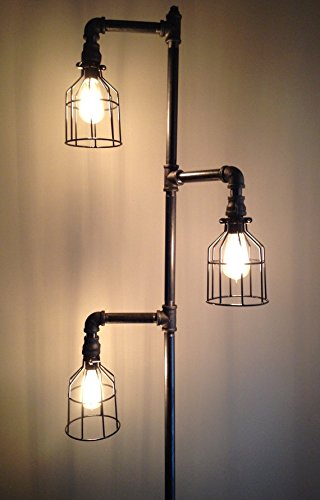 Industrial Plumbing Pipe Floor Lamp by Down The Pipeline