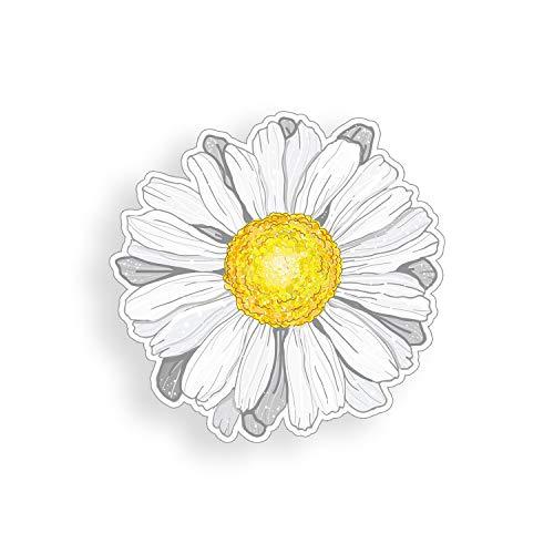 Daisy Laptop - White Daisy Flower Sticker cup laptop car vinyl decal window bumper wall graphic