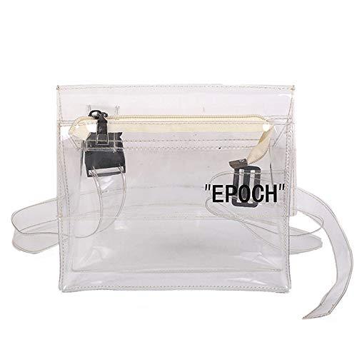 SeBeLi Clear Crossbody Messenger Shoulder Bag Purse for Women Adjustable Strap NFL Stadium Approved Clear Purse by SeBeLi