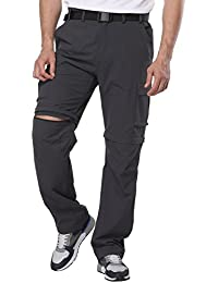 Men's Convertible Pants Quick Dry Cargo Pants Lightweight Comfort Stretch for Hiking Travel, 7 Pockets