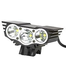 RioRand bike light 1800 Lumen 3x CREE LED Cycling Lamp HeadLight