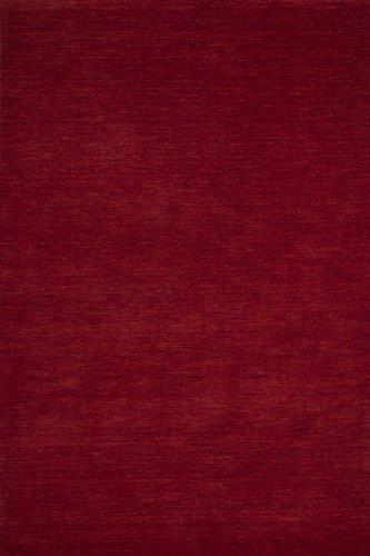 Lalee  347185849  Moderner Designer Teppich / Handarbeit / Uni / Wolle / Rot / Grösse : 80 x 150 cm