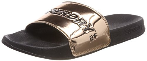 Rose Mujer Rosa Superdry Gold Chanclas para Tjk City Slide wOqSa7