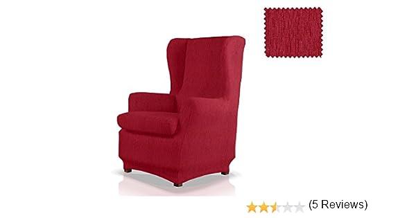 JM Textil Funda de sillón orejero elástica Haber Tamaño 1 Plaza (Estándar), Color 08