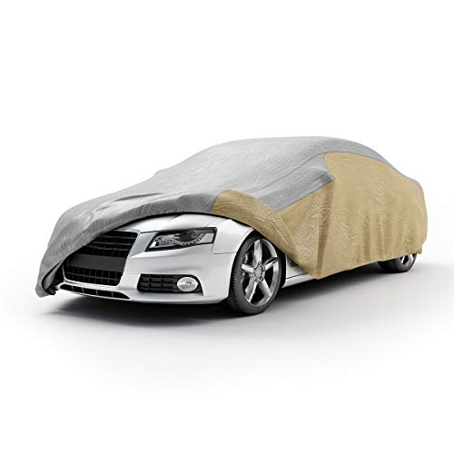 VETOMILE Car Cover Large 5 Layers Up to 200 Inches Waterproof Windproof Dust proof Breathable Outdoor Indoor UV Protection Full Car Covers for ()