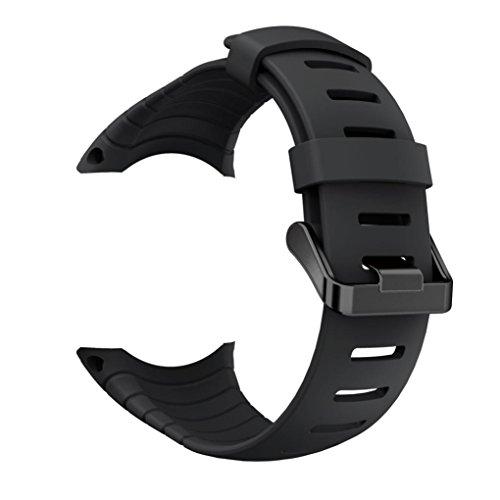 Core Bamboo Classic Silicone (Sinwo Personalize Sports Silicone Bracelet Strap Band New For Suunto Core (Black))