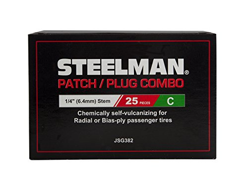 - Steelman JSG382 1/4-Inch Tire Repair Patch/Plug Combo, Box of 25