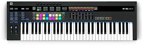Novation 61SL MkIII, MIDI and CV Equipped Keyboard Controller with 8 Track Sequencer