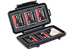 Pelican 0945 Compact Flash Memory Card Case (Black)