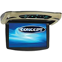 Concept CFD-135 13.3-Inch Ceiling-Mount Monitor Dvd with H Input, High Audio Out and Touch Buttons