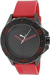 Puma Women's PU103801004 Red Rubber Quartz Watch