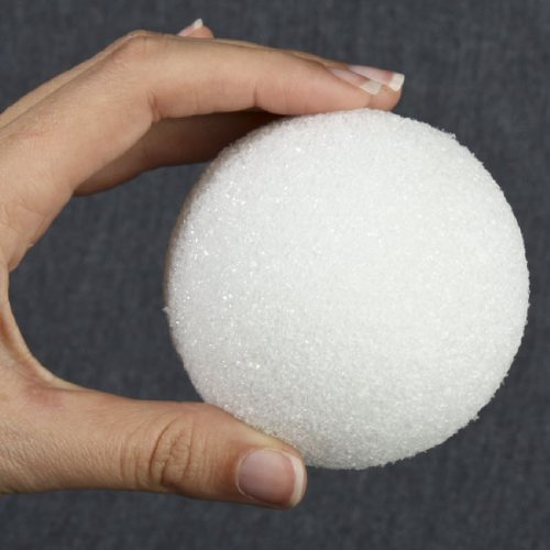 Bulk Package of 50 Styrofoam Balls 3'' in Diameter for Crafting and Decorating by Factory Direct Craft (Image #2)