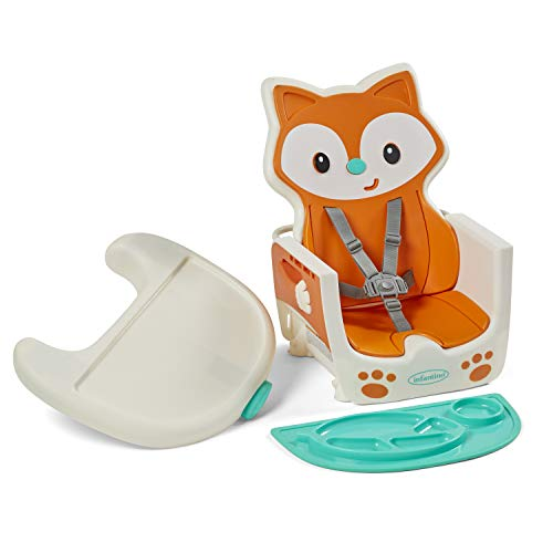41zmHTMqlnL - Infantino 4-in-1 Highchair - Space-Saving, Multi-Stage Booster And Toddler Chair With Multi-use Meal Mat And Dishwasher-Safe Tray, In A Fox-Themed Design
