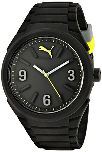 PUMA Unisex PU103592001 Gummy Analog Display Analog Quartz Black Watch