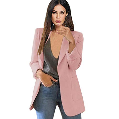 Abuyall Women Long Sleeve Open Front Cardigan Jacket Work Office Blazer Plus Size Pk M -