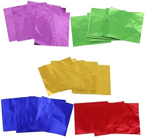 多機能 ペーパーストロー 箔紙 チョコレート 包装 紙 アルミ箔 手作り 約500枚いり