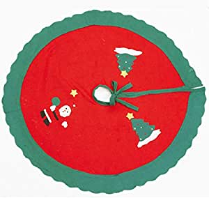 Christmas Tree Skirt Mat for Christmas Holiday Party Decoration