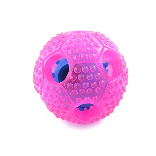 MuLuo Hollow Football Soft TPR Dog Leaking Food Ball Teeth Chewing Bitting IQ Training Interactive Pet Toys by MuLuo