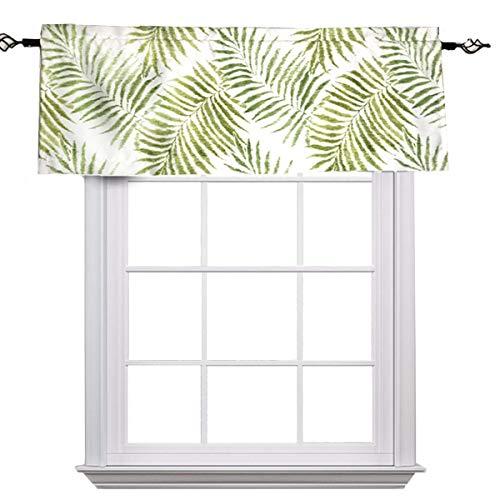 MYRU Pastoral Leaves Tropical Valance for Windows,Valance Leaf Pattern (Valance 54