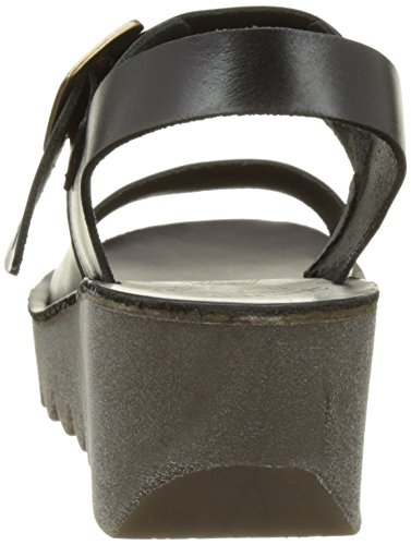 Black Sandal London Women's Brindle Fly Wedge Yail907fly vxXzxZw