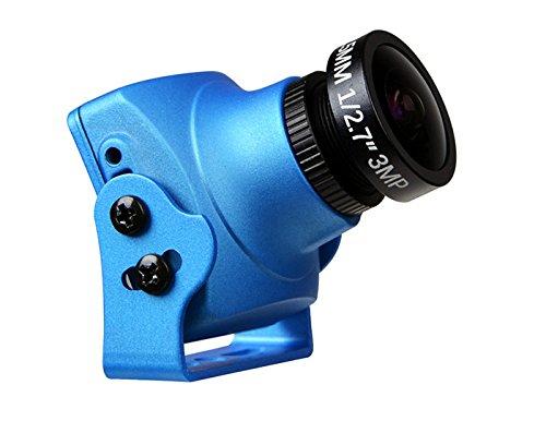 Foxeer Monster V2 16:9 1200TVL Built-in OSD Audio FPV Camera w/ 2.5mm Lens - Blue (V2 Audio)