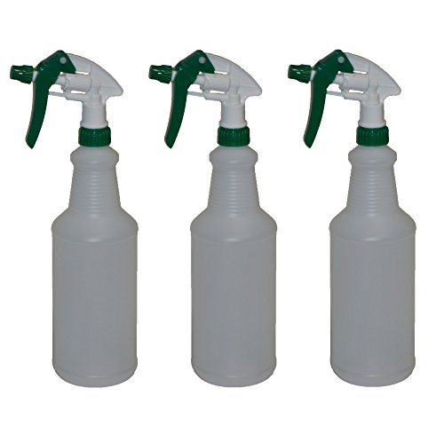 Empty Spray Bottles Set of 3 -32oz. Heavy Duty Trigger Sprayers with Filters - Household or Commercial Use (3, 32oz)