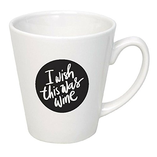I Wish This Was Wine Coffee Mug Novelty Cup (Set Of Oversized Coffee Mugs compare prices)