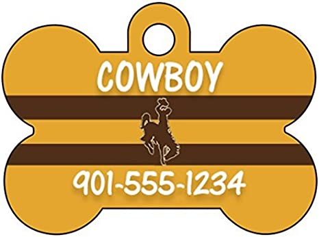 Oklahoma State Cowboys Pet Id Tag for Dogs /& Cats Personalized w// Name /& Number