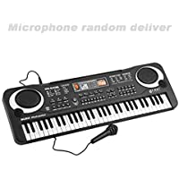 Wenwenzui 61 Keys Music Electronic Digital Keyboard Electric Organ Children Great Gifts With Random Microphone Musical Instrument