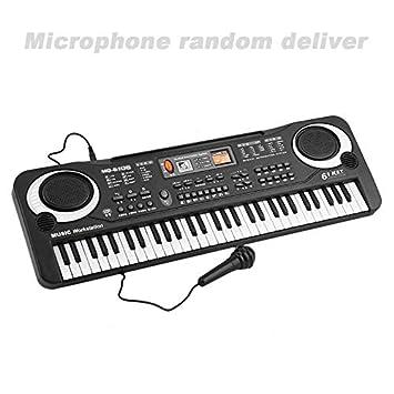 Wenwenzui 61 Teclado Teclas Música Electrónica Digital órgano eléctrico Niños Grandes Regalos con Random Micrófono de Instrumentos Musicales: Amazon.es: ...