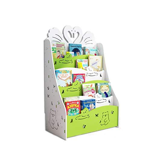 C&Q CQ Creativo Estantería Linda Estantería para niños Piso Simple Estudiante Estantería para bebés Kindergarten Libro...