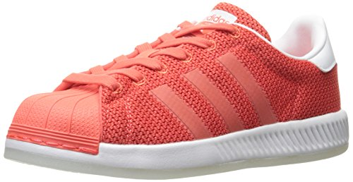 adidas Originals Girls' Superstar Bounce J Sneaker, Easy Coral Easy Coral White, 5 M US Big Kid